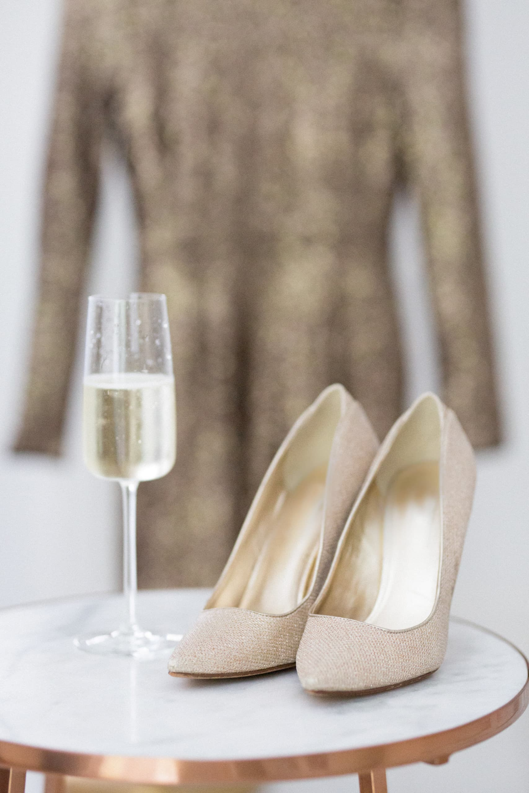 champagne sparkly dress going out bubbles party time celebration shoes