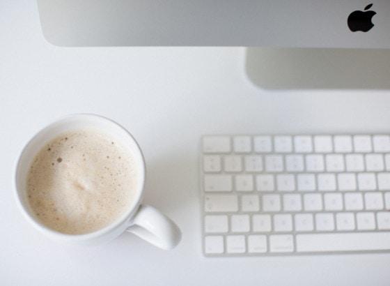 coffee keypad keyboard computer mac desk office work