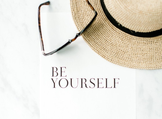 be yourself quote motivational wellness frame positivity sun hat sunglasses holiday
