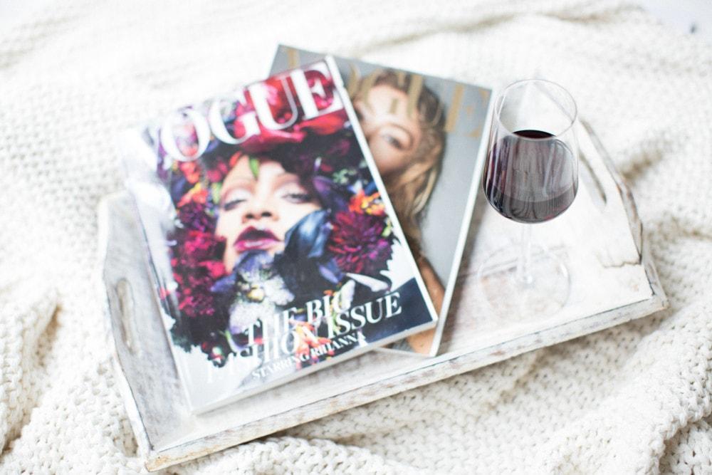 magazines with wine