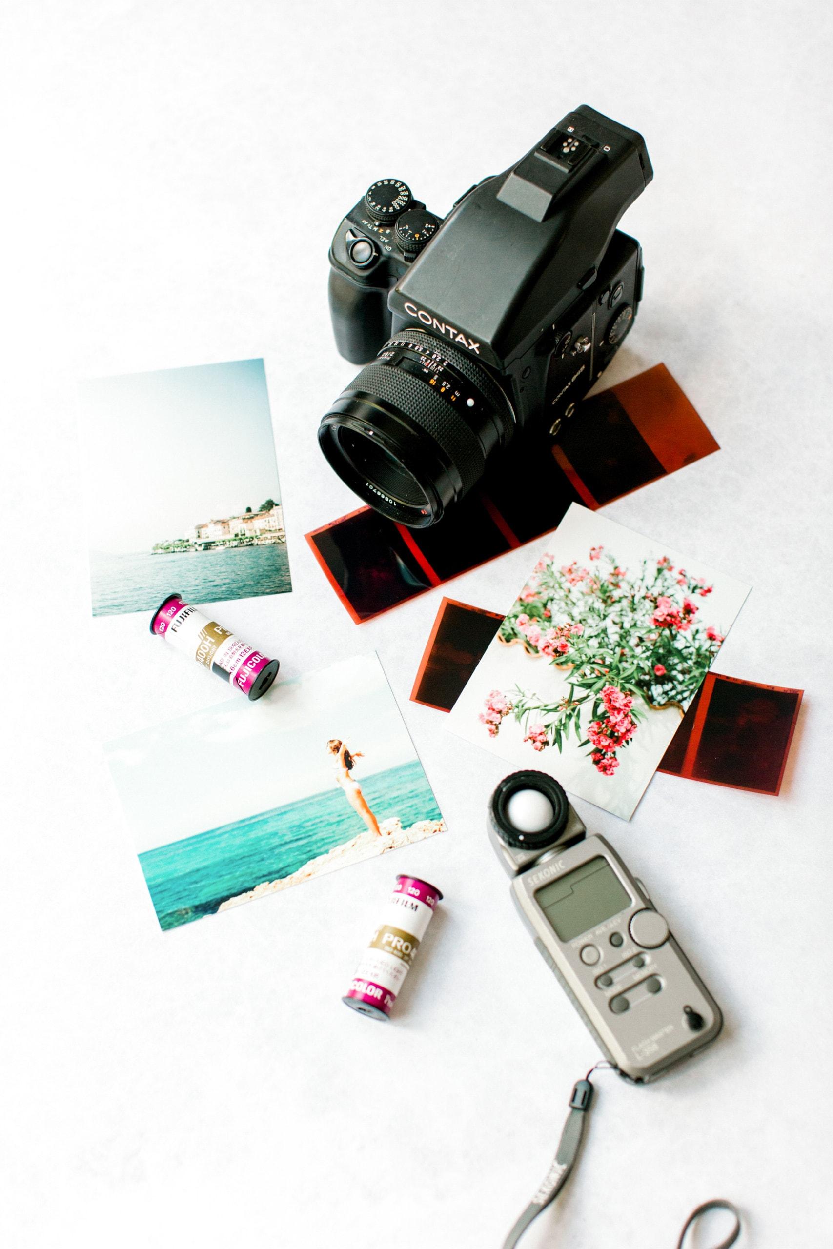 film camera prints light meter prints contax medium format photography photos images