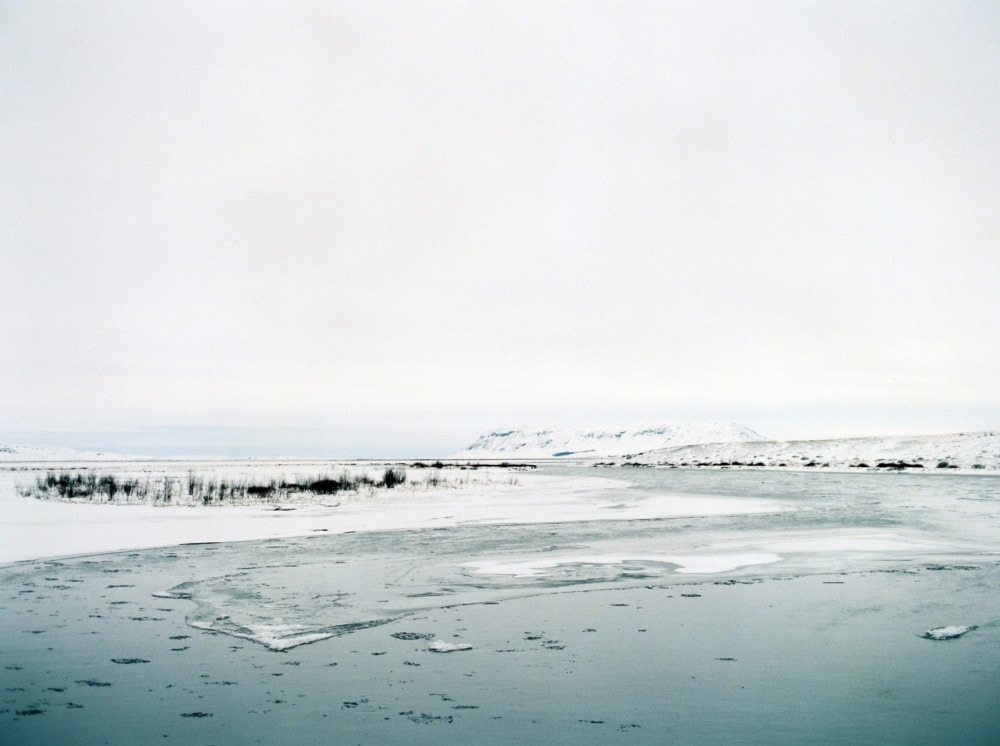Iceland frozen lake