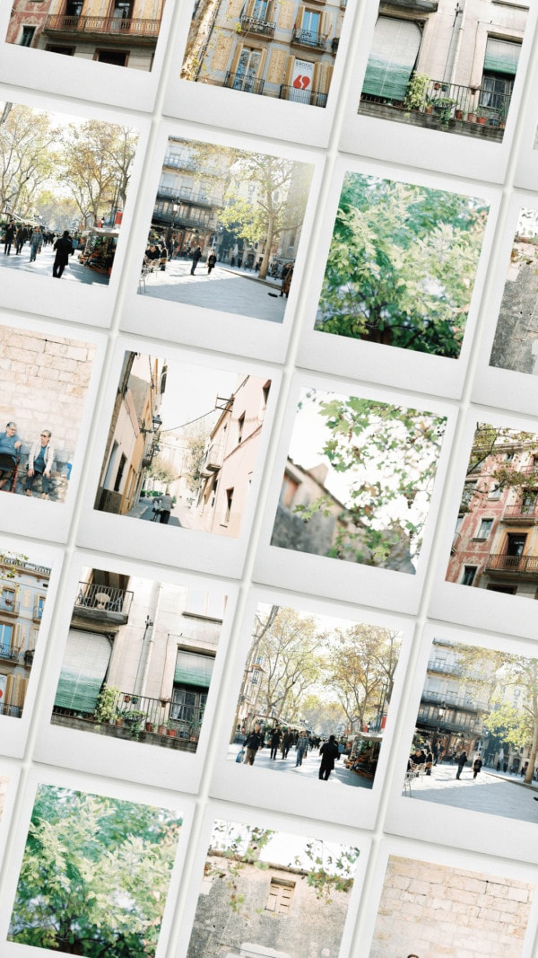 Barcelona on Film collection stock image