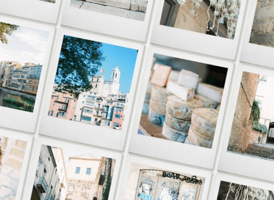 Girona on film stock photography