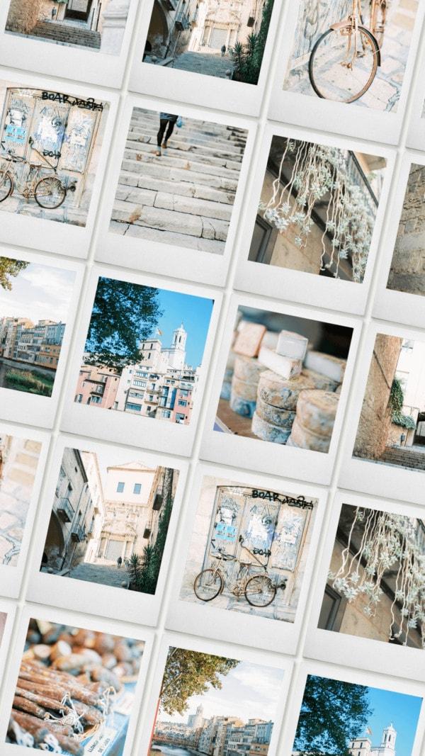 Girona on film stock photography