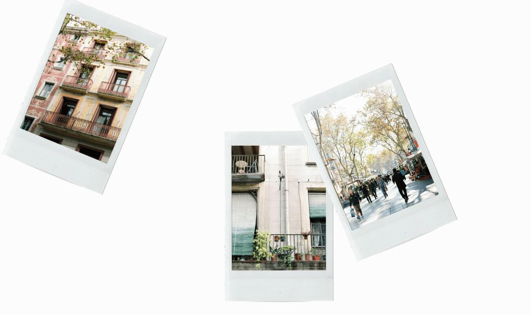 Barcelona on film stock photography