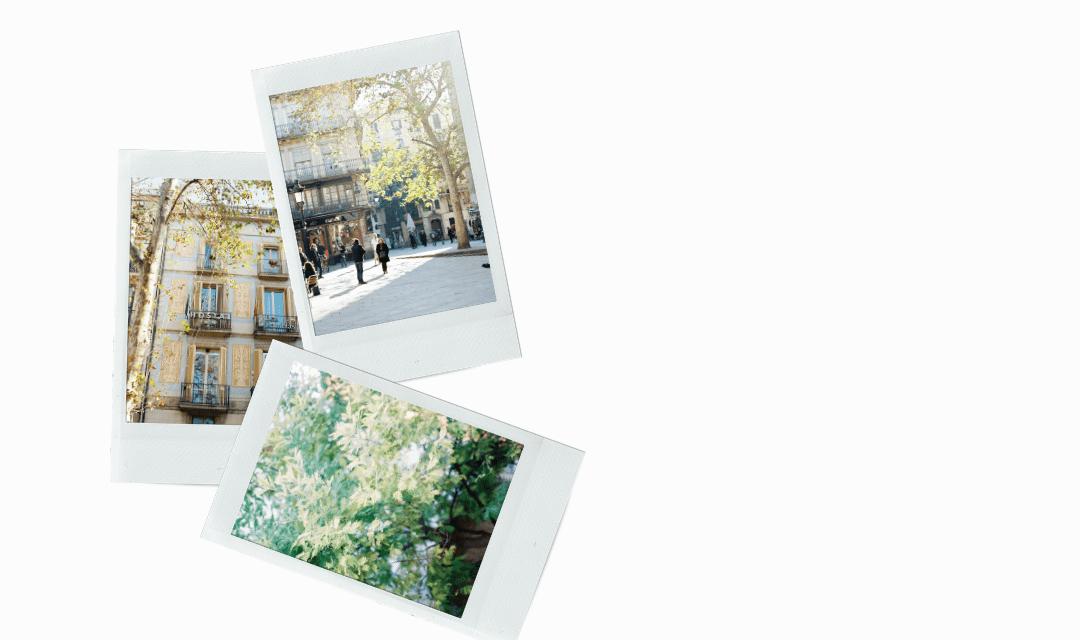 Barcelona on Film Stock Images