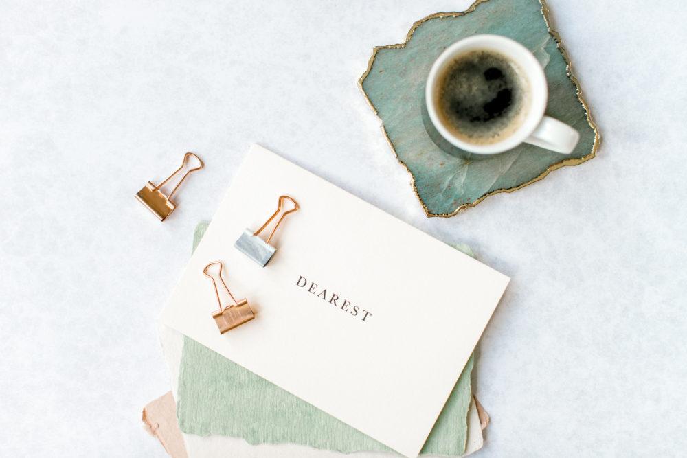 Coffee with dearest card