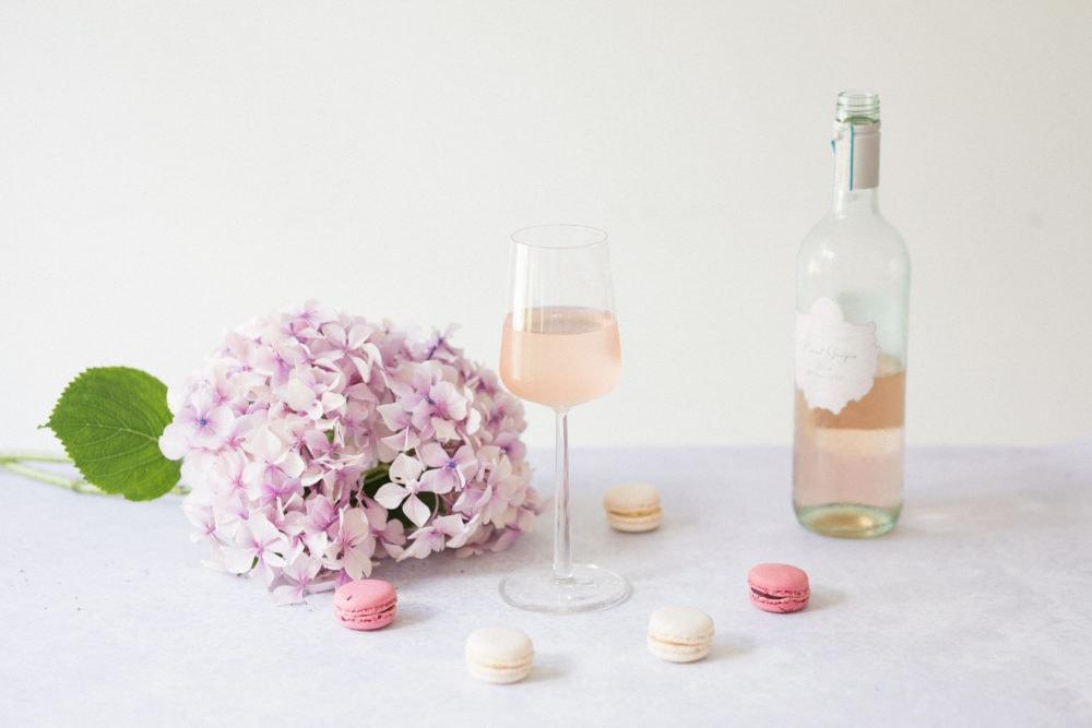 Bottle of rosé