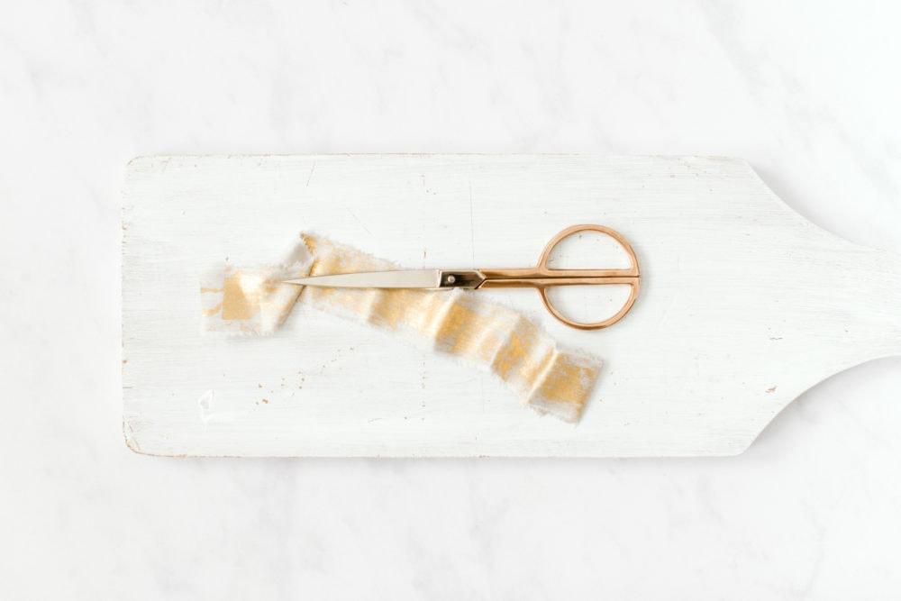 Ribbon and scissors - fine art stock photography