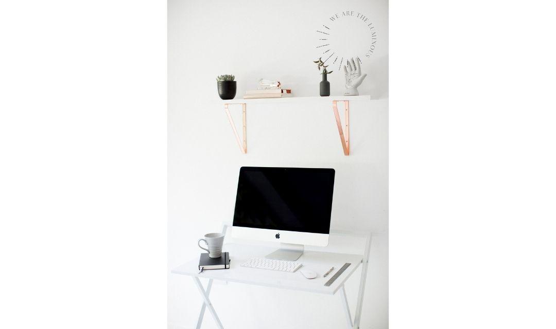 monochrome home office