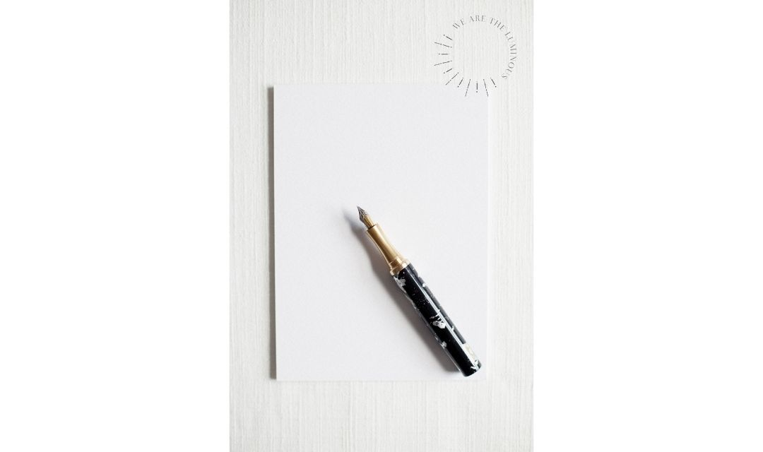 black and gold fountain pen