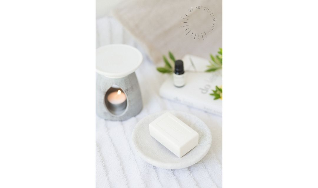 aromatherapy soap and candle