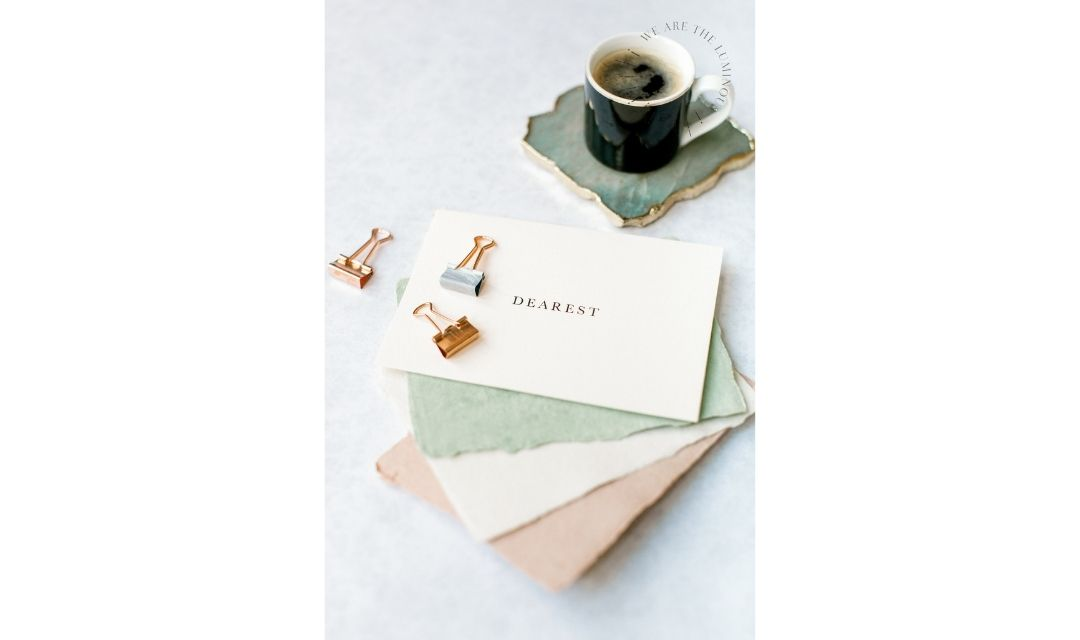 note papers with coffee