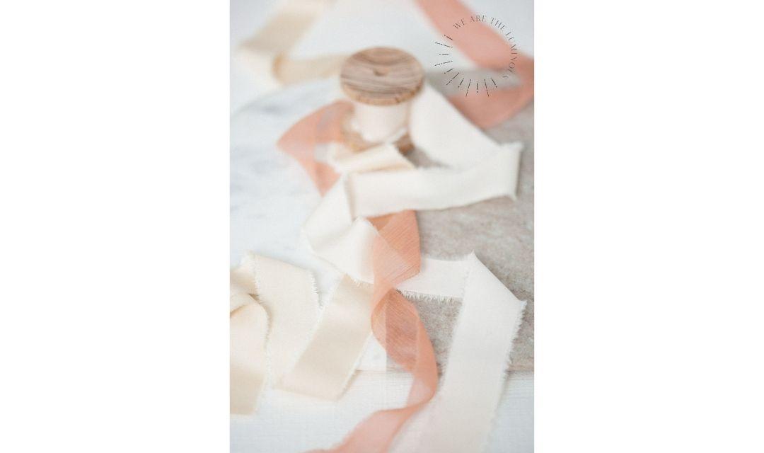 peach silk ribbon