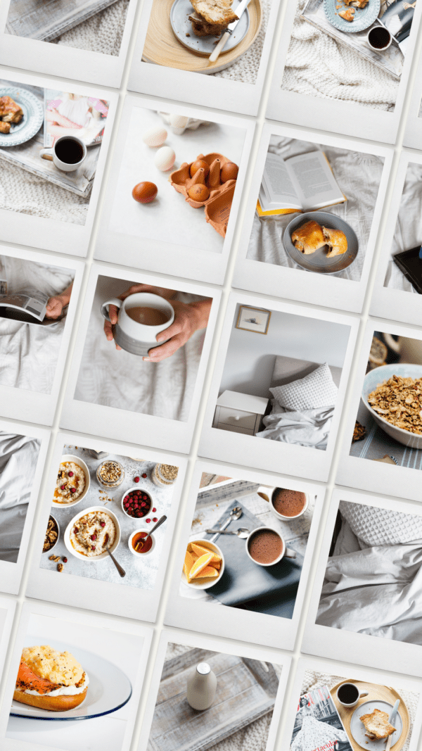 Break fast in bed stock photography