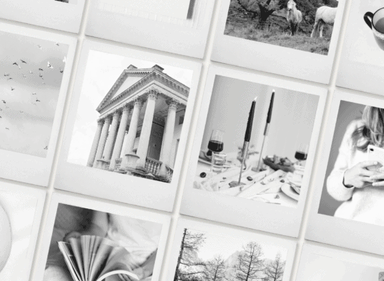 Black and white styled stock photography