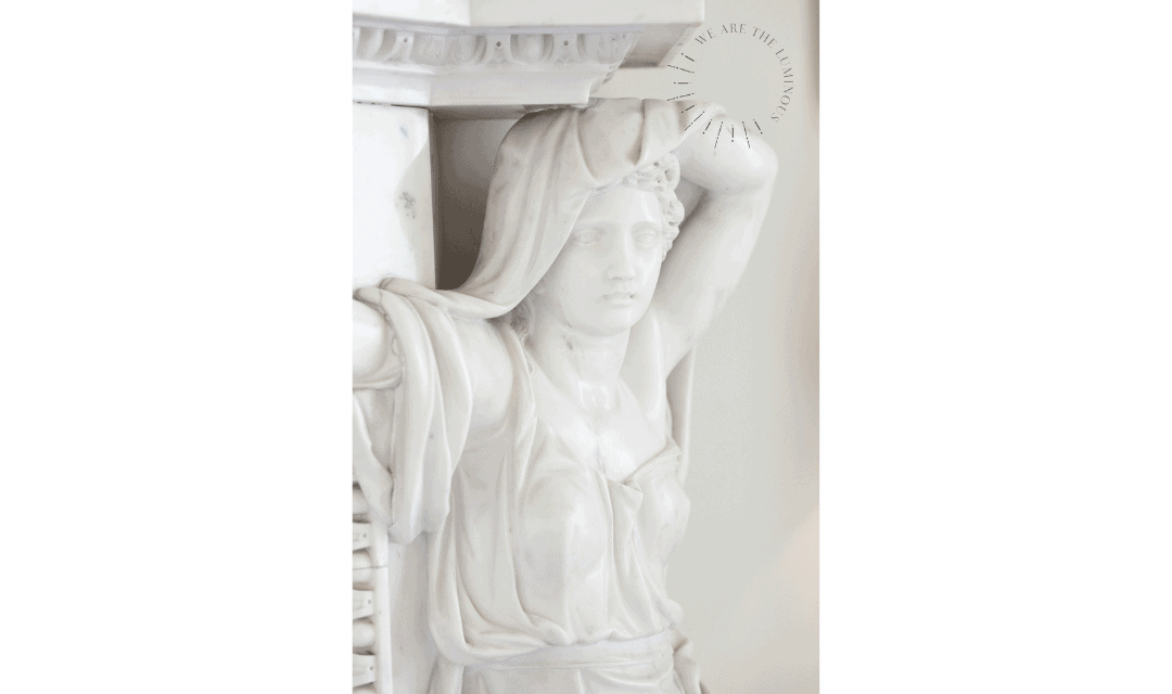 white marble statue stock photo