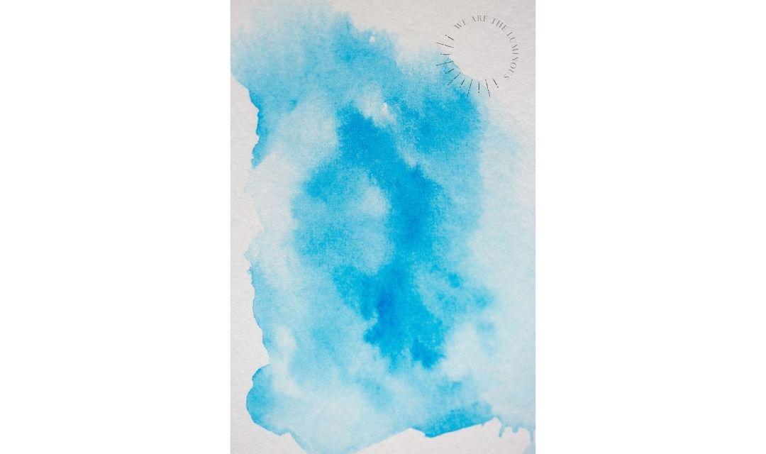 blue watercolour wash