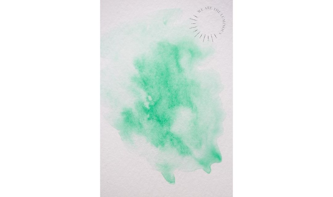 green watercolour wash
