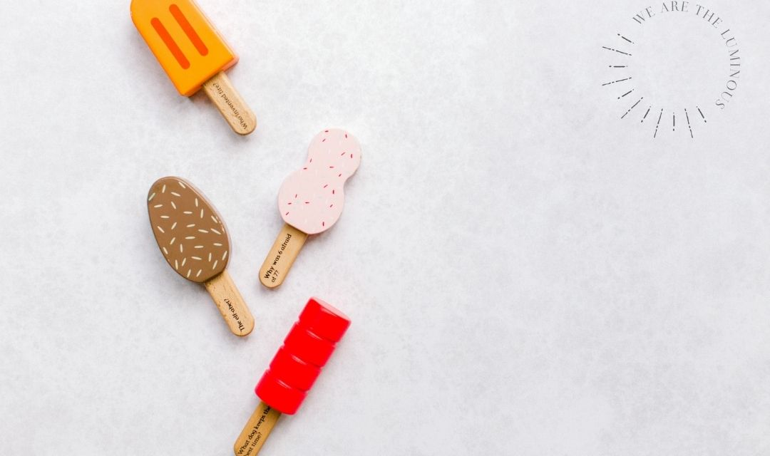 ice cream toy stock photo