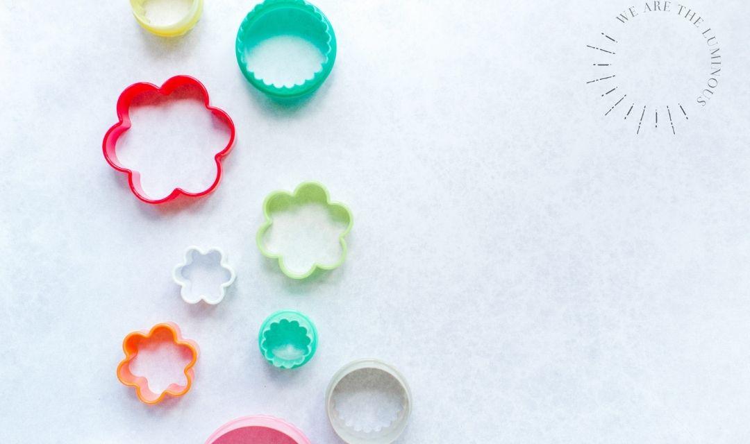 Children's rainbow cookie cutters