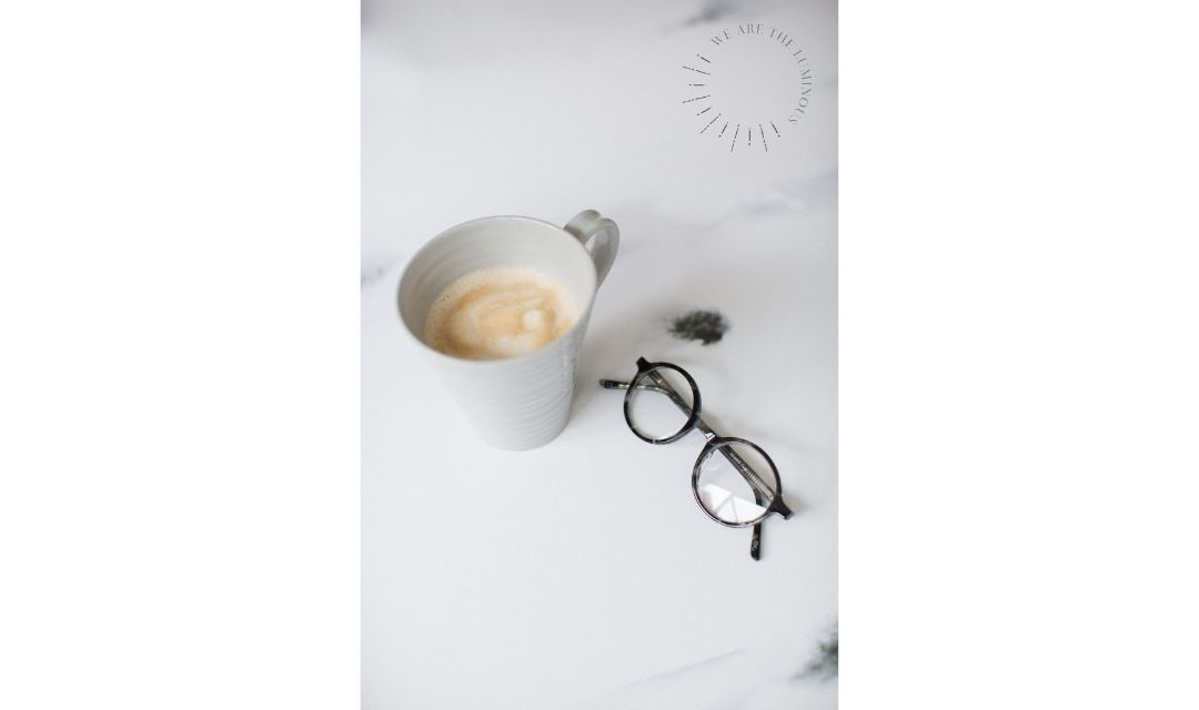 glasses with cup of coffee