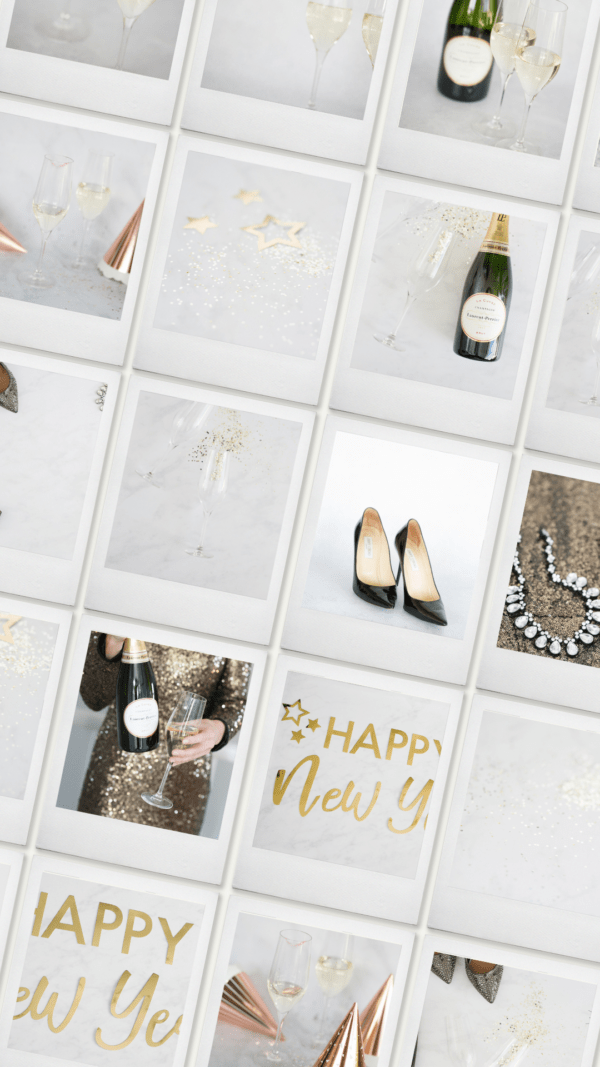 New Years Eve styled stock photography