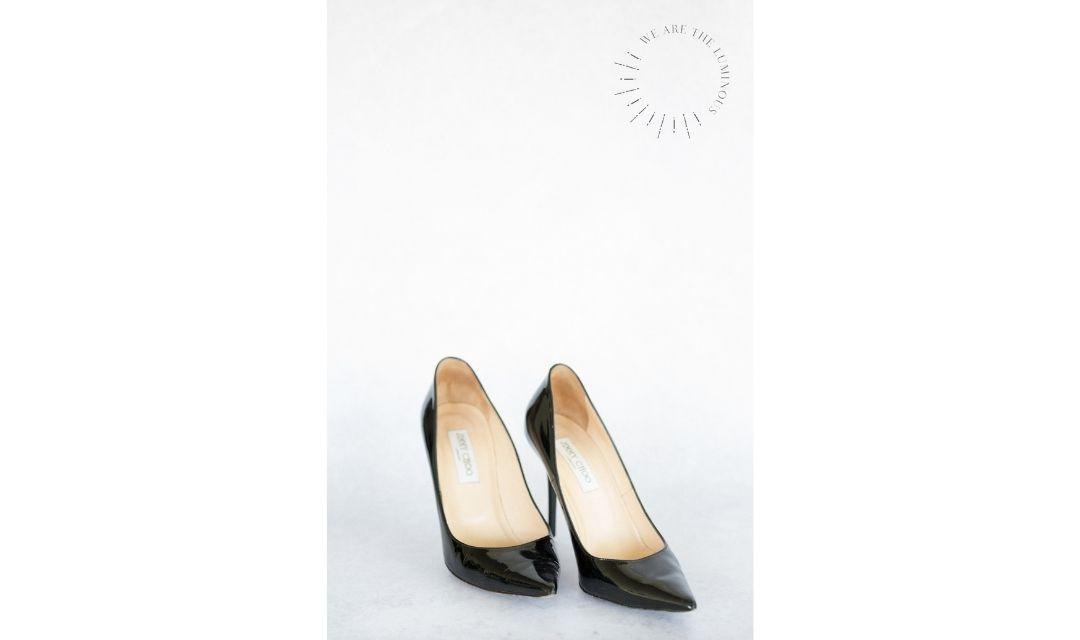 black Jimmy Choo shoes