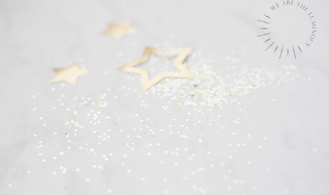 gold stars and glitter