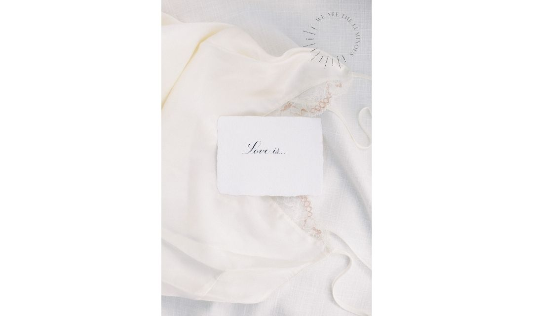 silk camisole with love quote