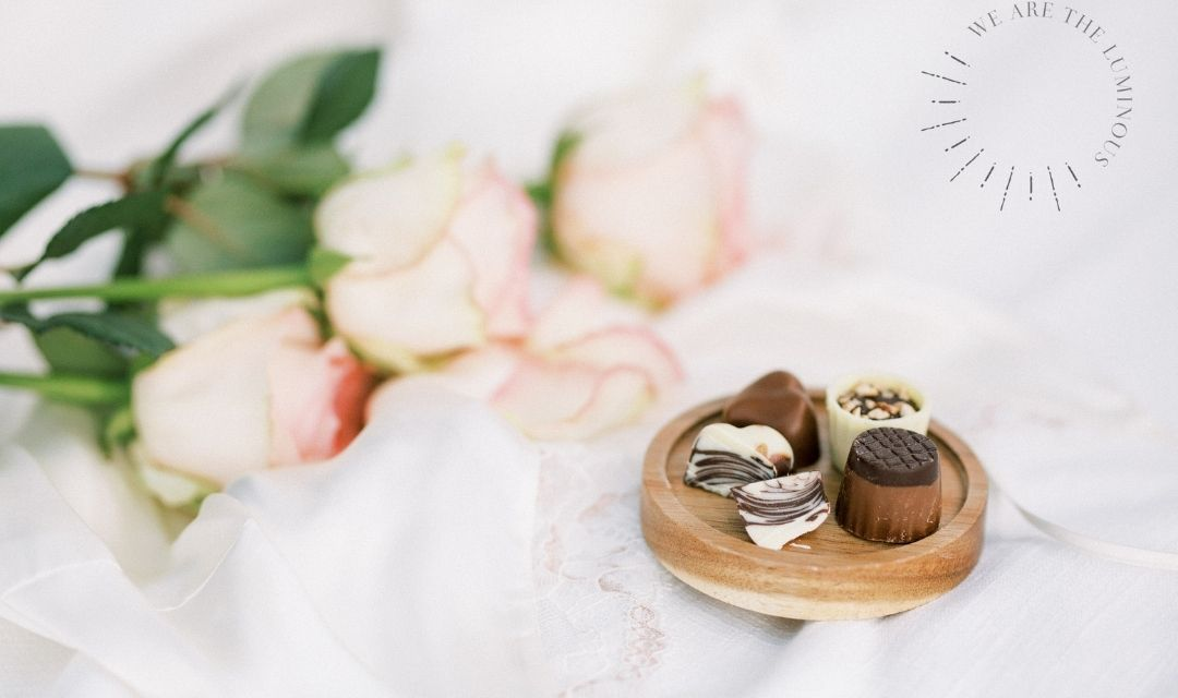 chocolates with roses