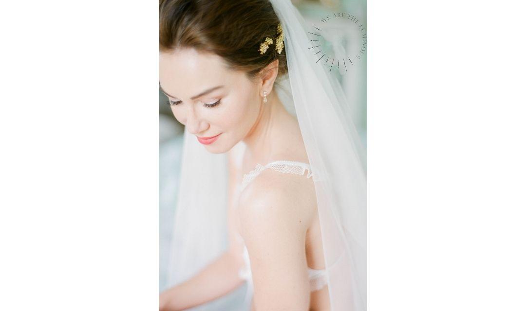 a bride in veil