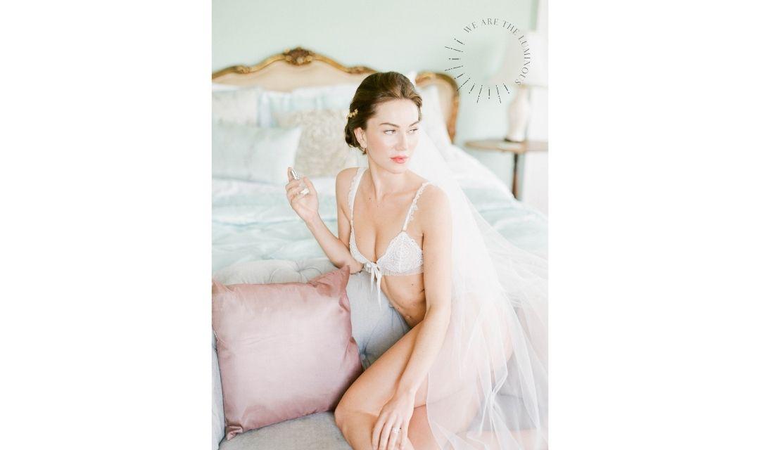 a bride in bridal suite
