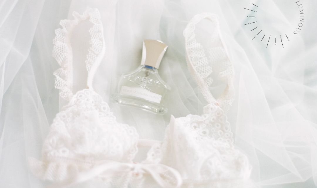 lace lingerie and perfume