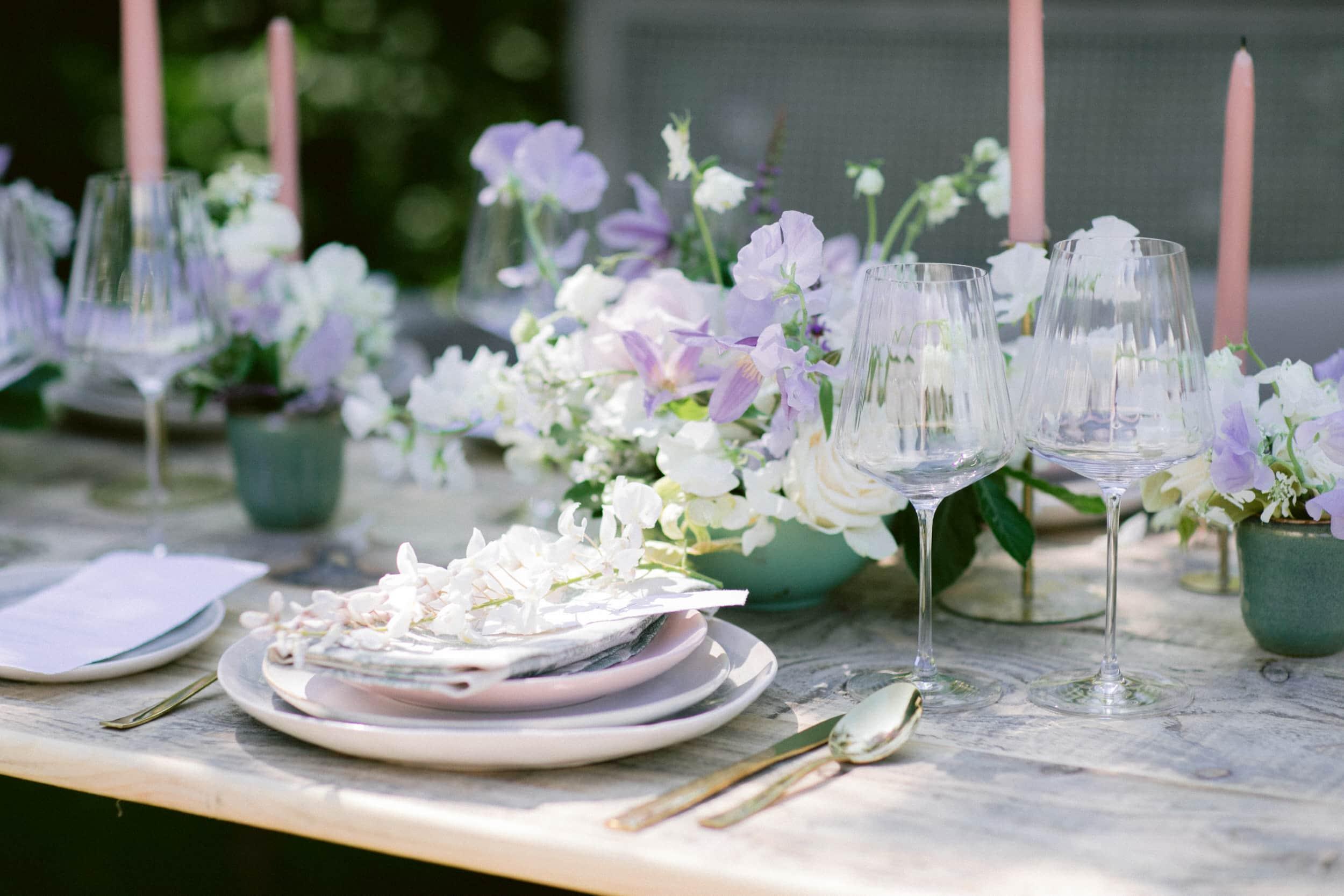 wisteria wedding table
