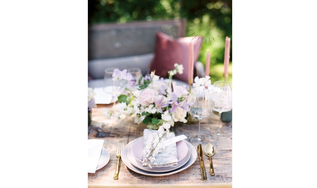 wisteria wedding table details